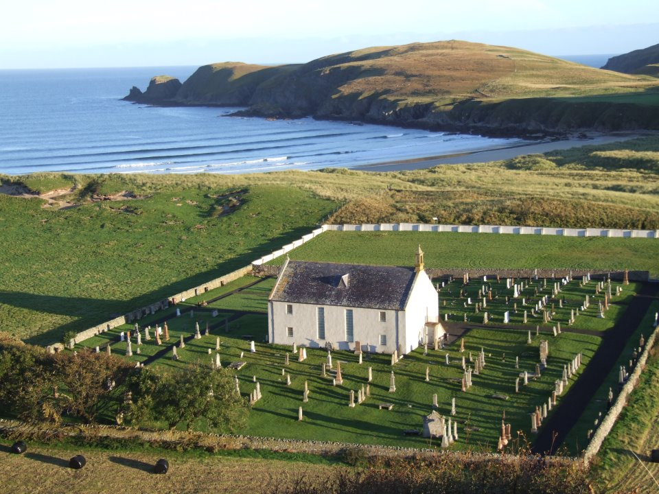 Strathnaver Museum as viewed from the sky