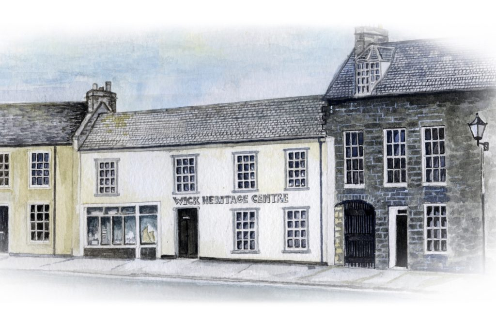 drawing of external image of wick museum