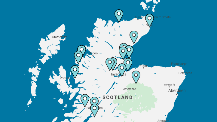 Museums and Heritage Highland Members Map