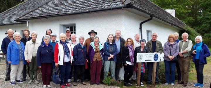 Group of volunteers at clan cameron museum